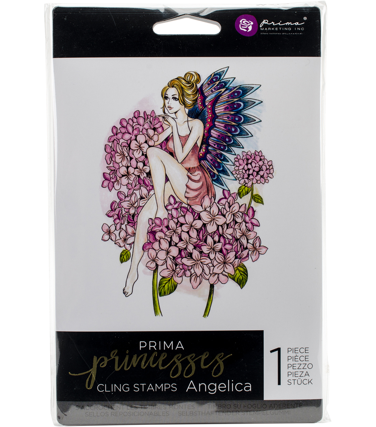 "Prima Princesses Cling Stamp 5""X7""-Angelica"
