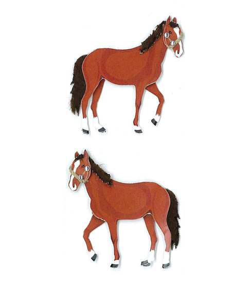 Jolee's By You Dimensional Slim Stickers-Horses