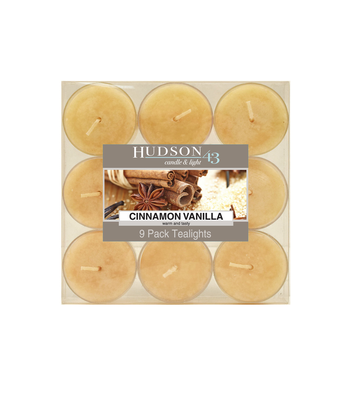 Hudson 43™ Candle & Light Collection 9 Pack Cinnamon Vanilla Tealights