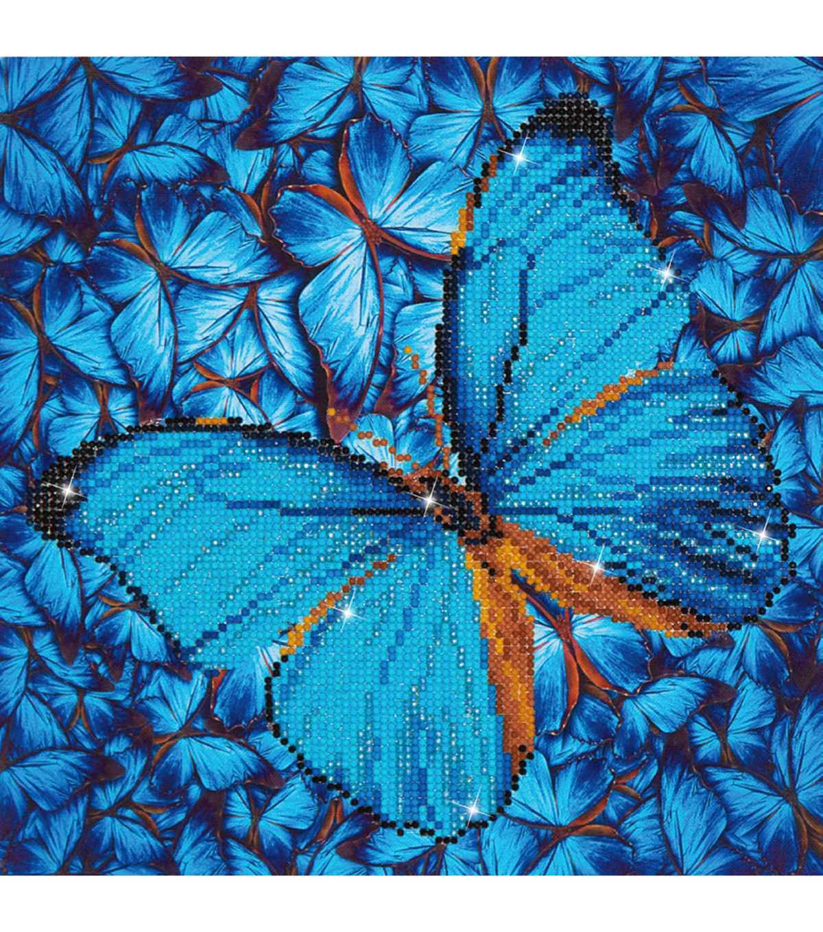 "Diamond Embroidery Facet Art Kit 15""X15""-Flutter By Blue"