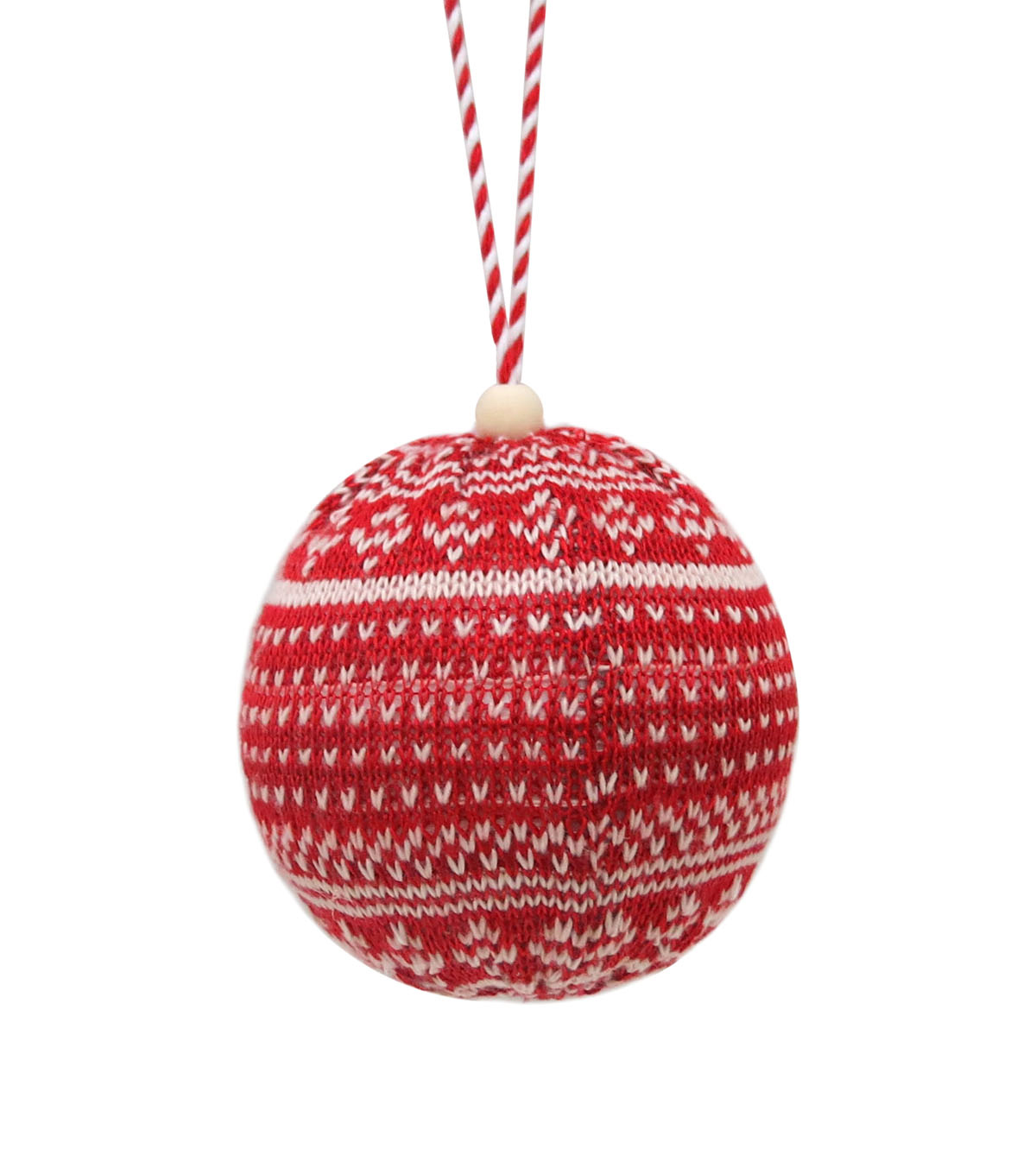 Maker\u0027s Holiday Christmas Handmade Holiday Ball Ornament-Fairisle