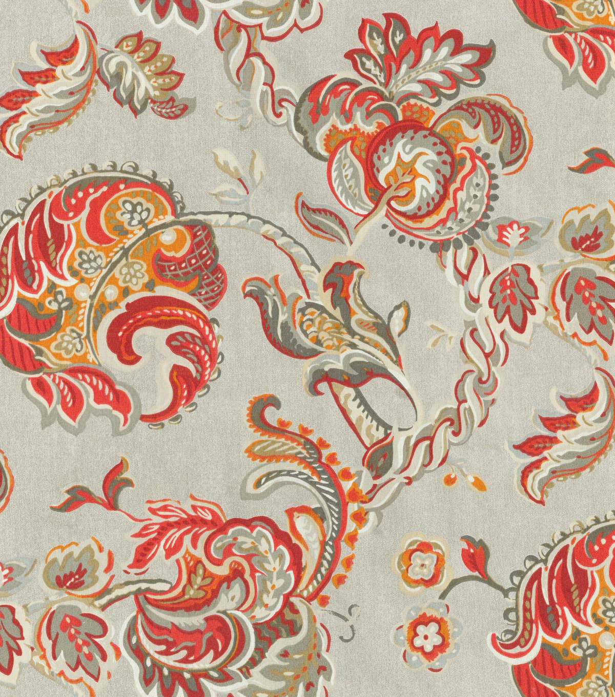 "Waverly Upholstery Fabric 56""-Summer Canvas/Lantern Red"