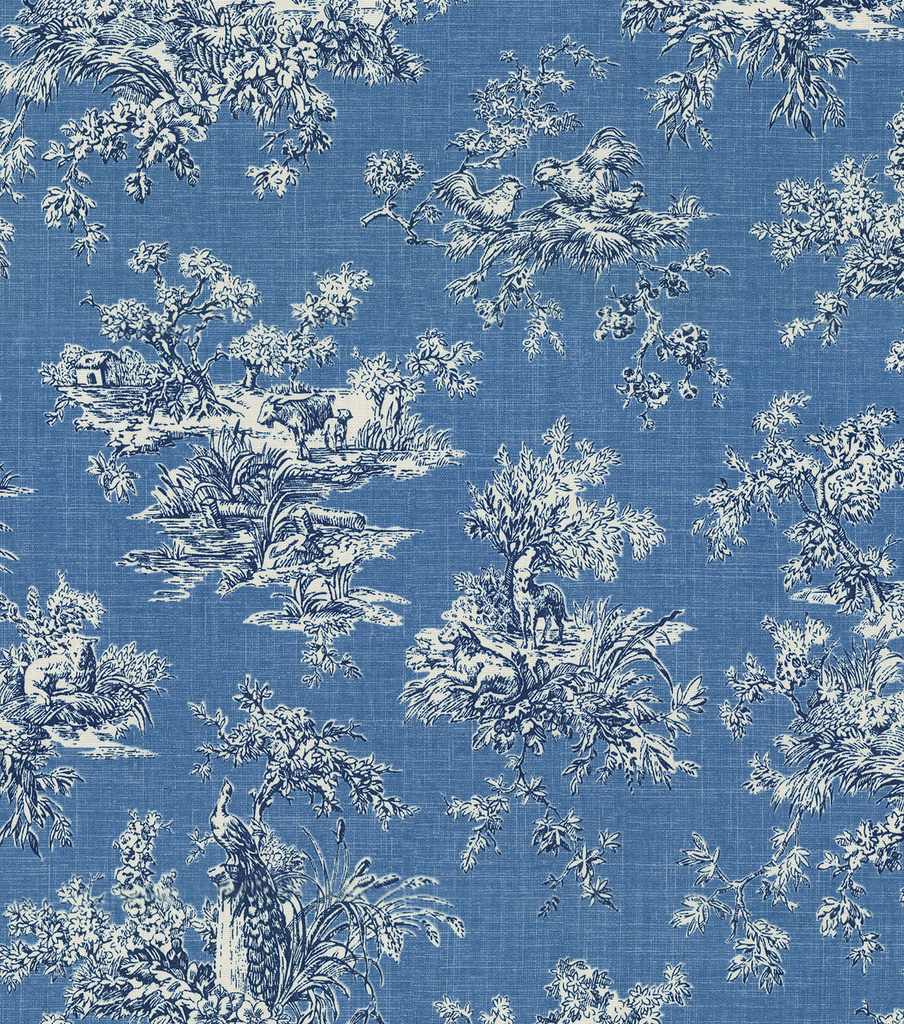 P/K Lifestyles Upholstery Fabric 54\u0022-Sea Bright Delft