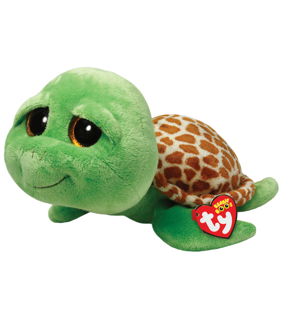 Ty Beanie Boos Zippy Green Turtle Medium Plush
