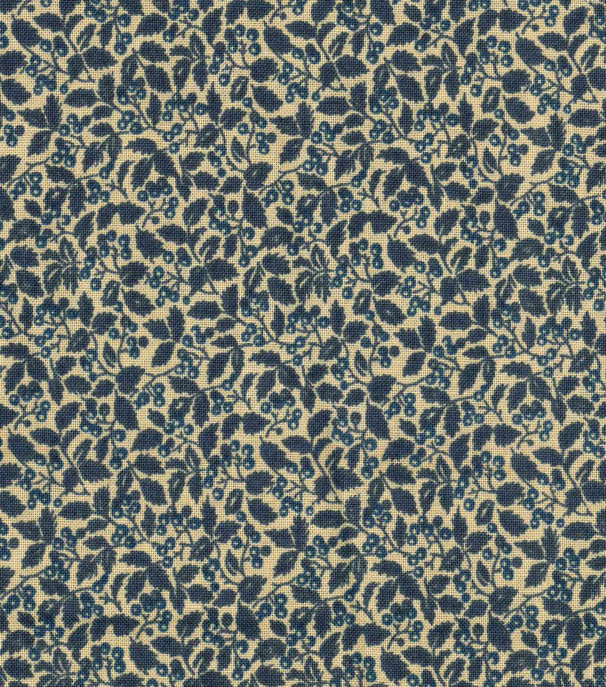 Vintage Cotton Fabric 43\u0022-Packed Vines Blue
