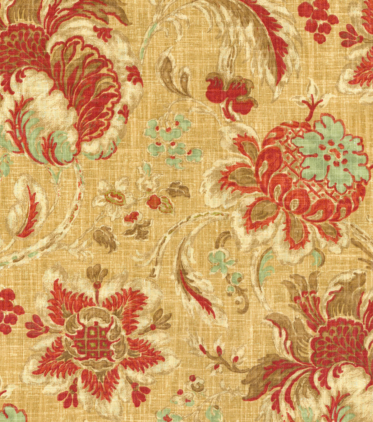 Waverly Print Fabric 54\u0022-Arbor Imagery/Vintage