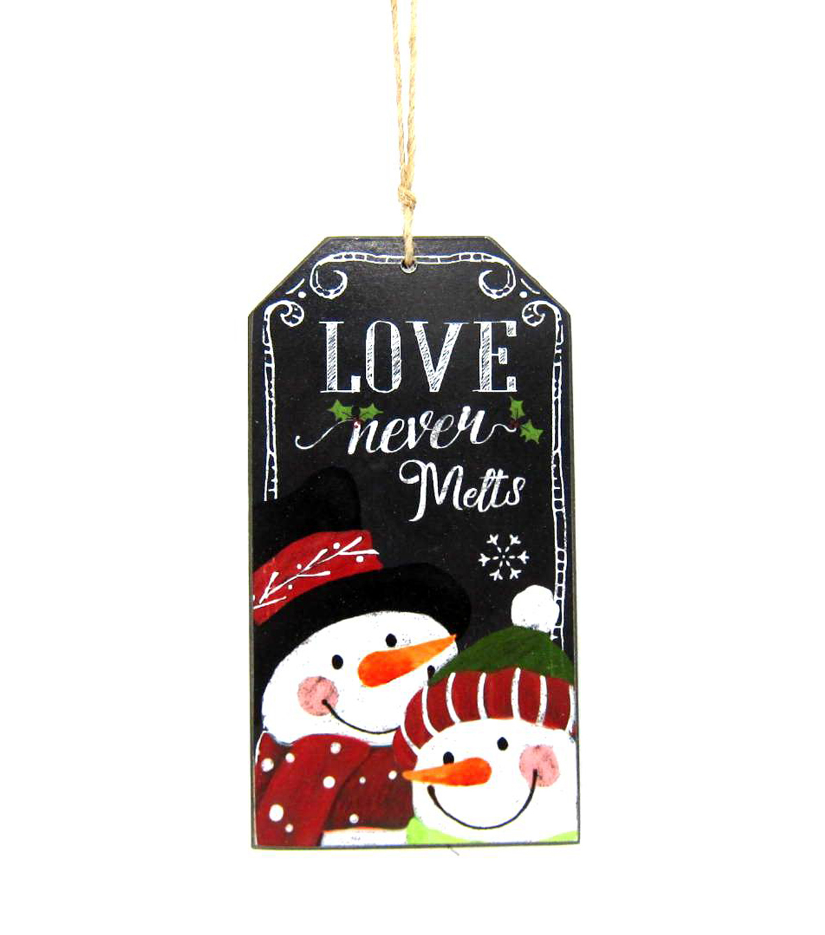 Maker's Holiday Love Never Melts Chalkboard Ornament