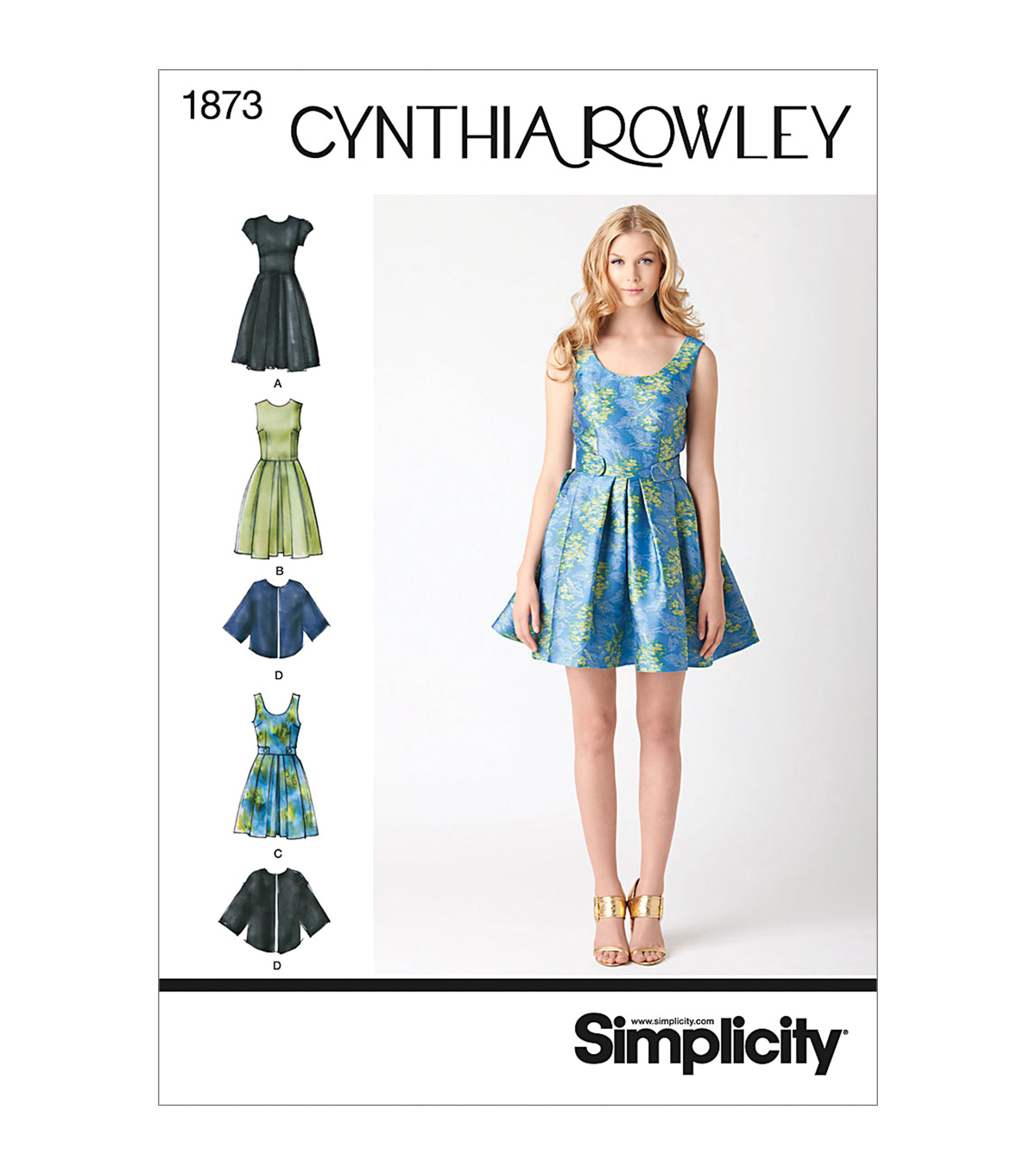 Simplicity Patterns Us1873H5-Simplicity Misses Dresses-6-8-10-12-14