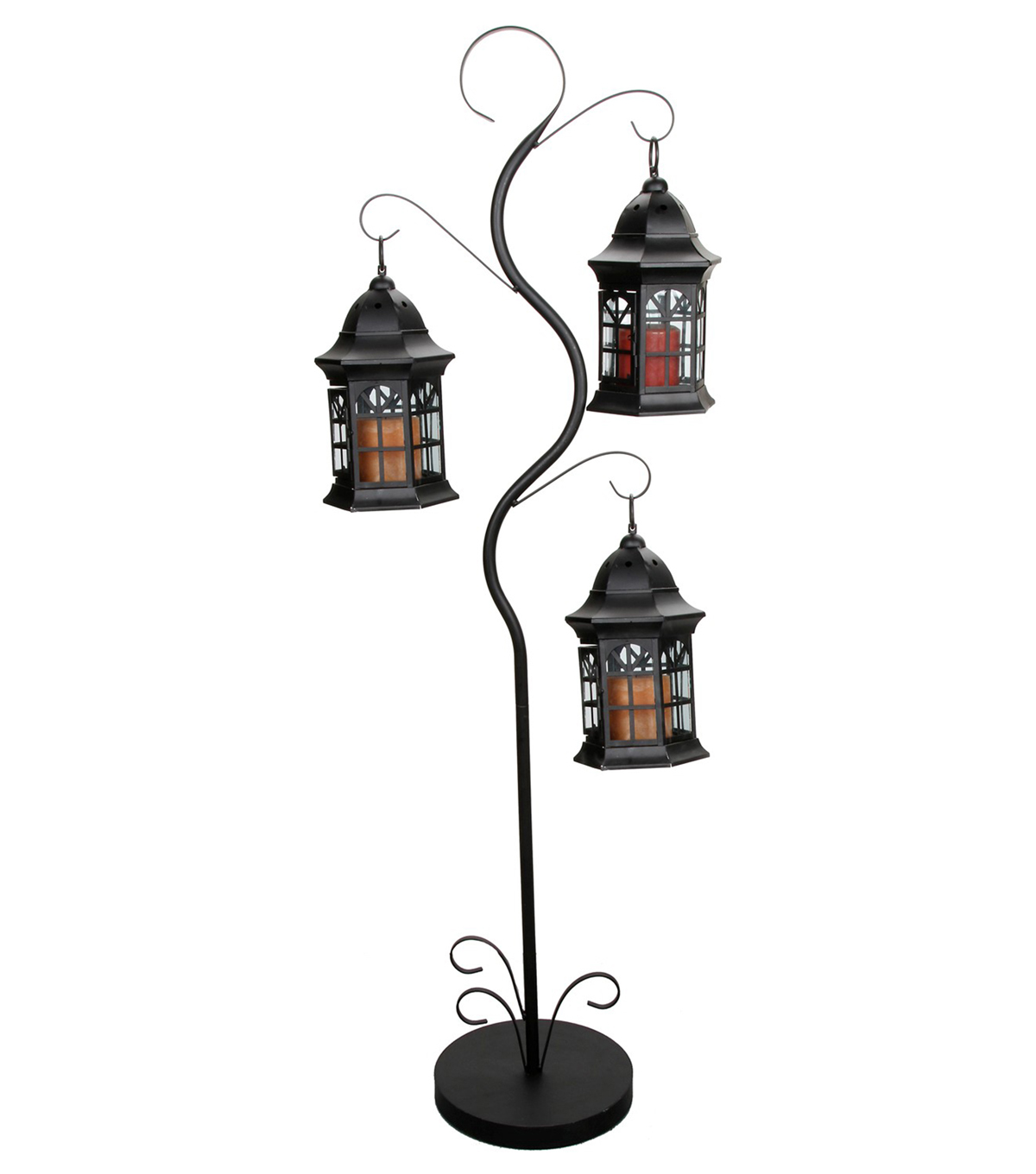 metal glass lantern51 x 10 x 10 inches