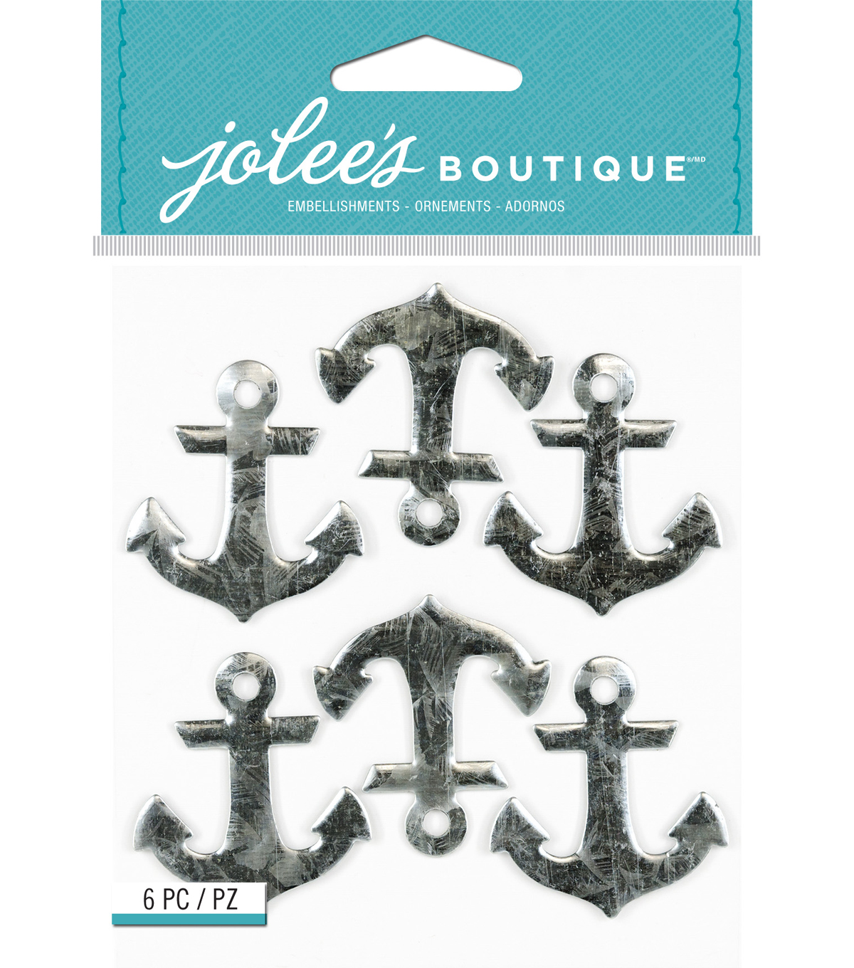 Jolee's Boutique® Metal Repeat Stickers-Anchors