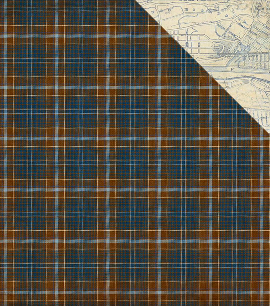 "Rugged Double-Sided Cardstock 12""X12""-Woven Plaid/City Street Map"