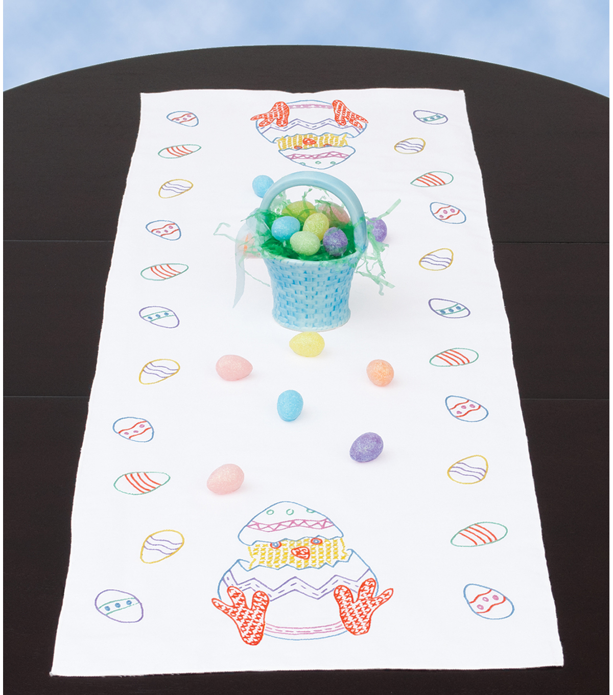Jack Dempsey Stamped Table Runner/Scarf Easter