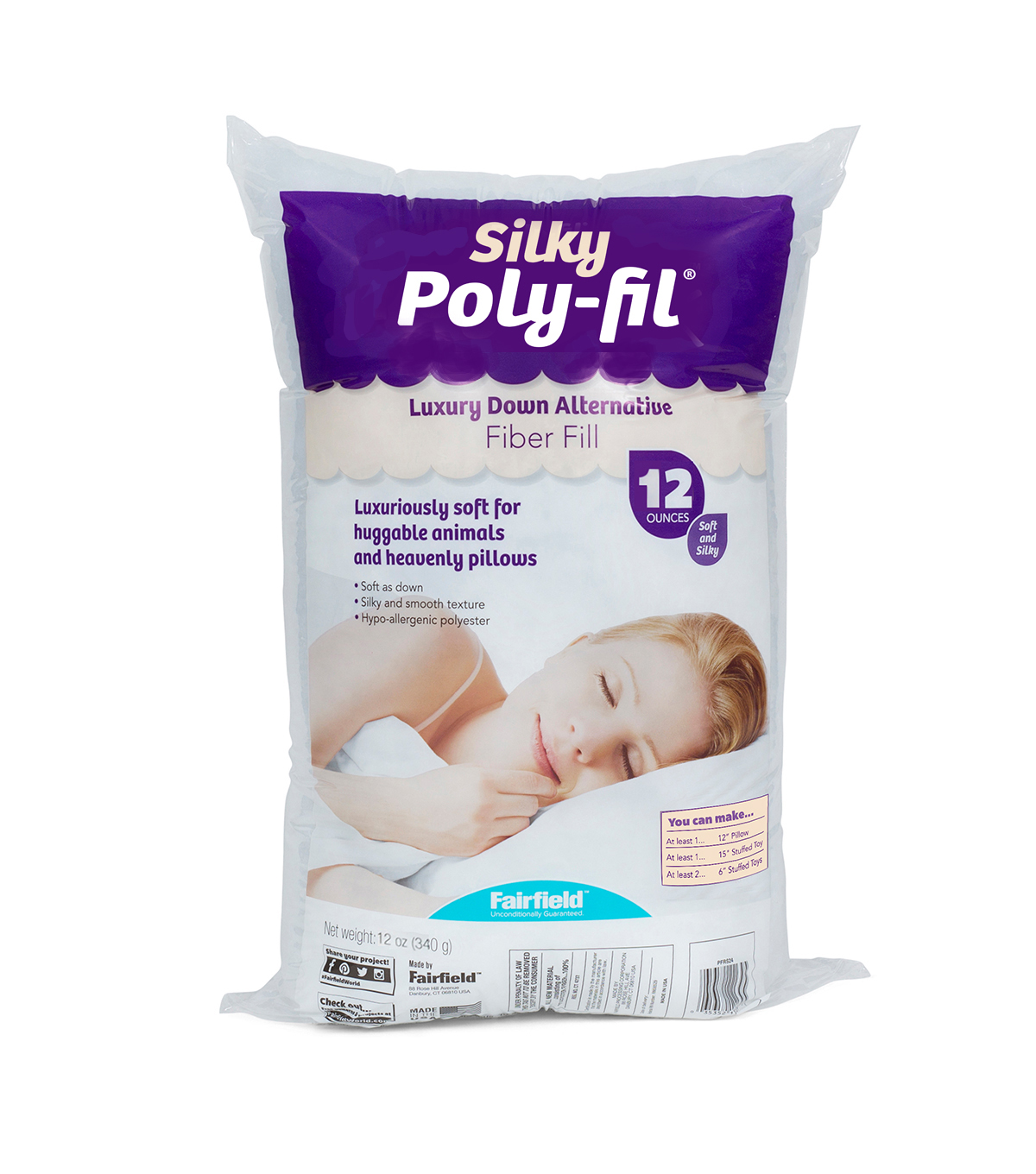 Poly-Fil® Royal Silk™ Fiber Fill 12 ounce Bag