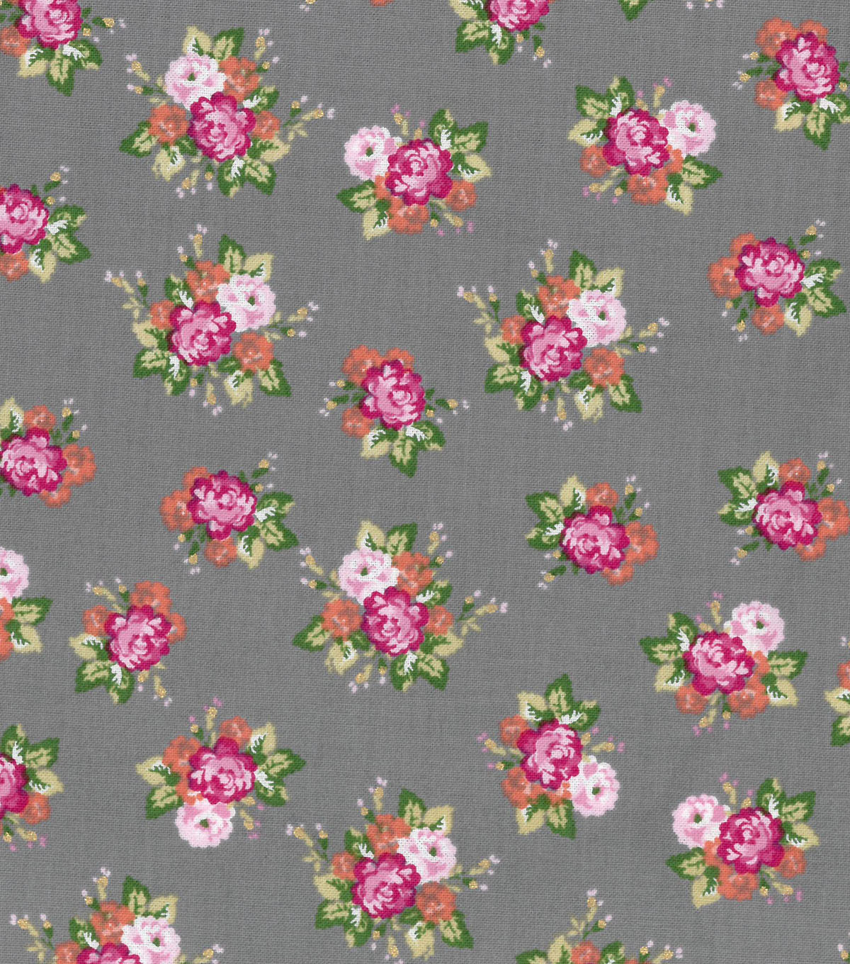 Buttercream™ Olivia Cotton Fabric-Ditsy Floral Gray