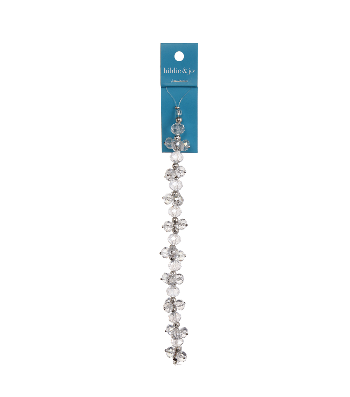 "Blue Moon Beads 7"" Crystal Strand, Dangles, Clear"