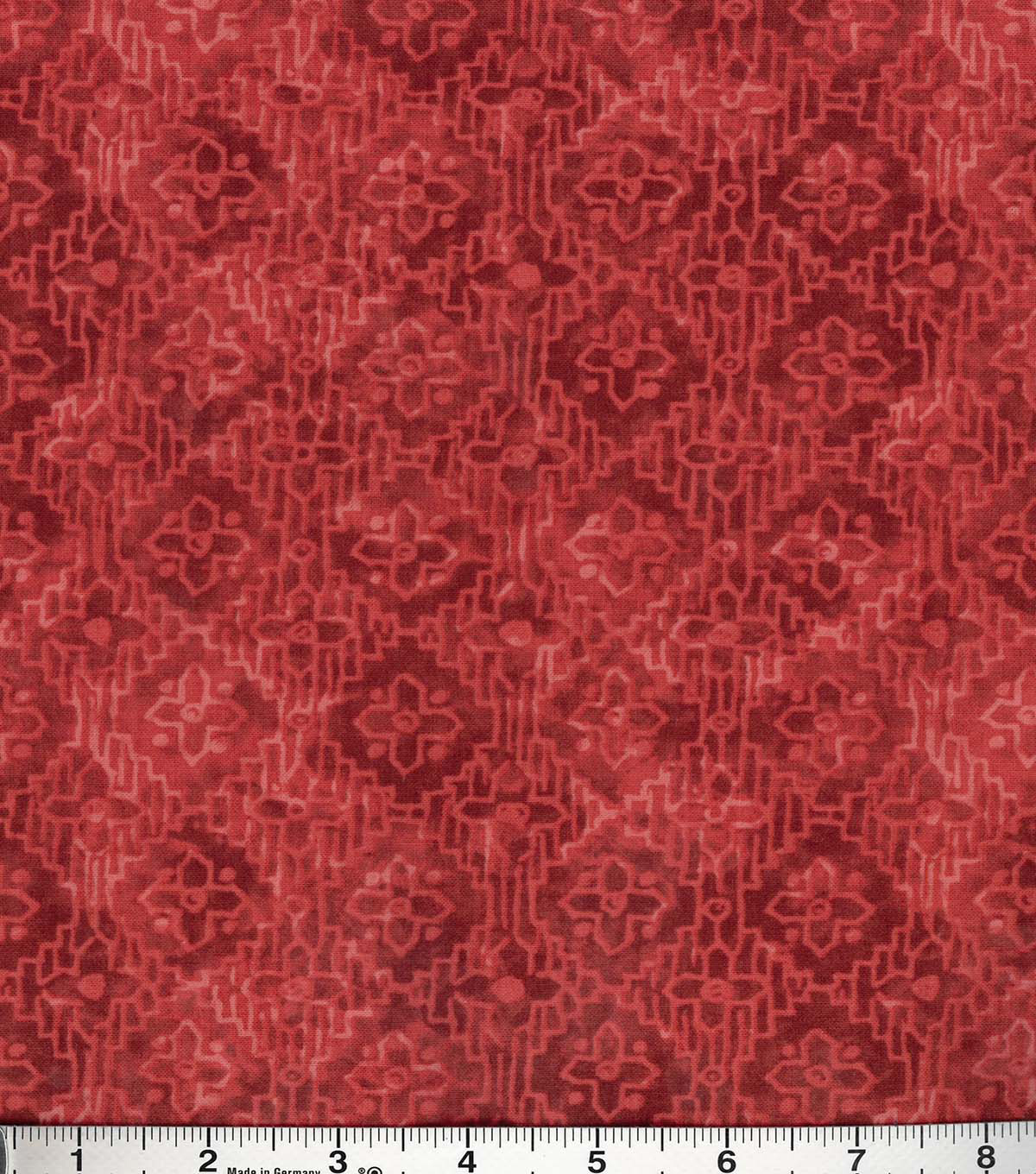 Buttercream™ Poppy Collection Cotton Fabric-Tonal Aztec Red