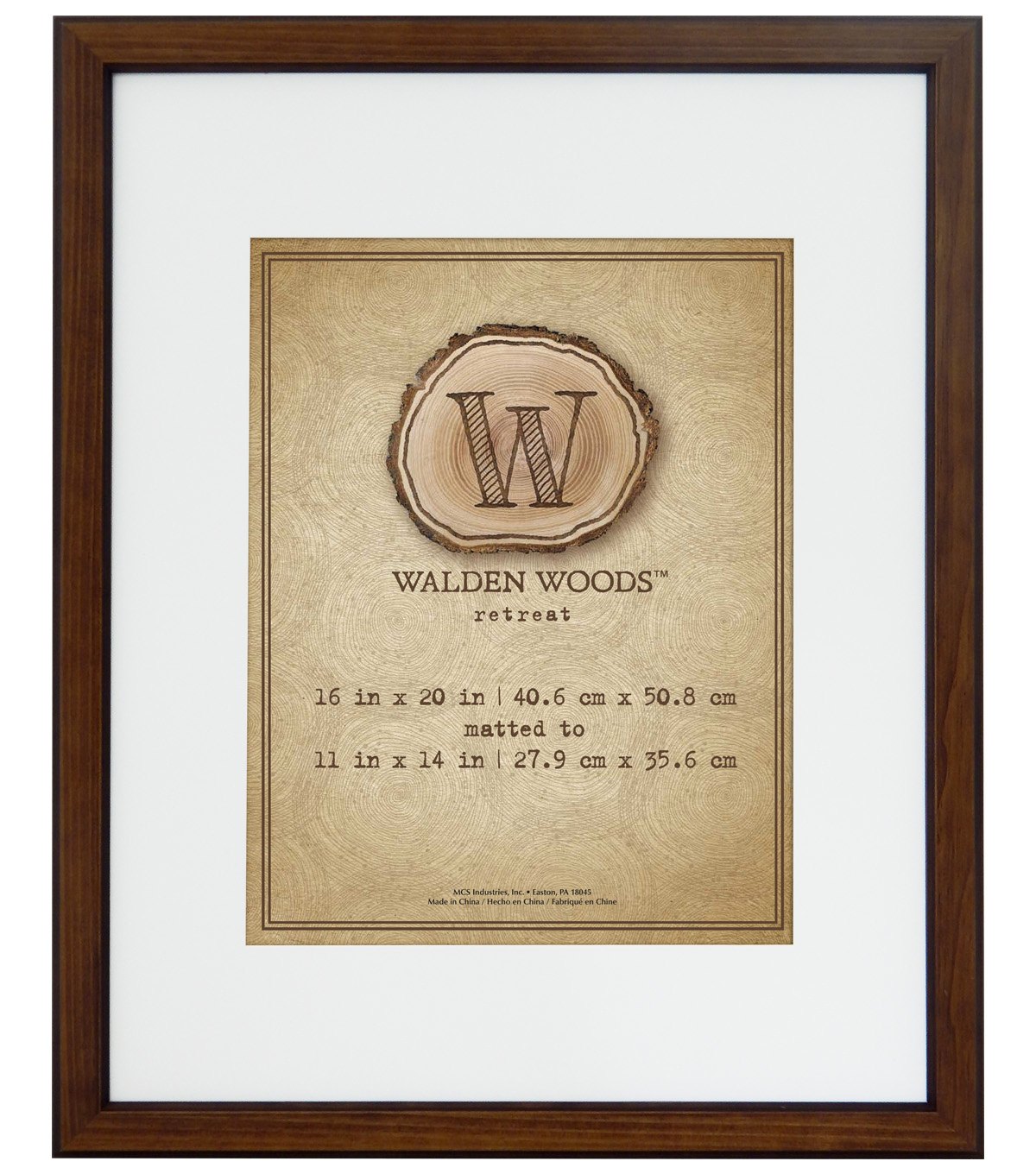 Walden Woods Wall Frame 16X20 To 11X14-Warm Walnut