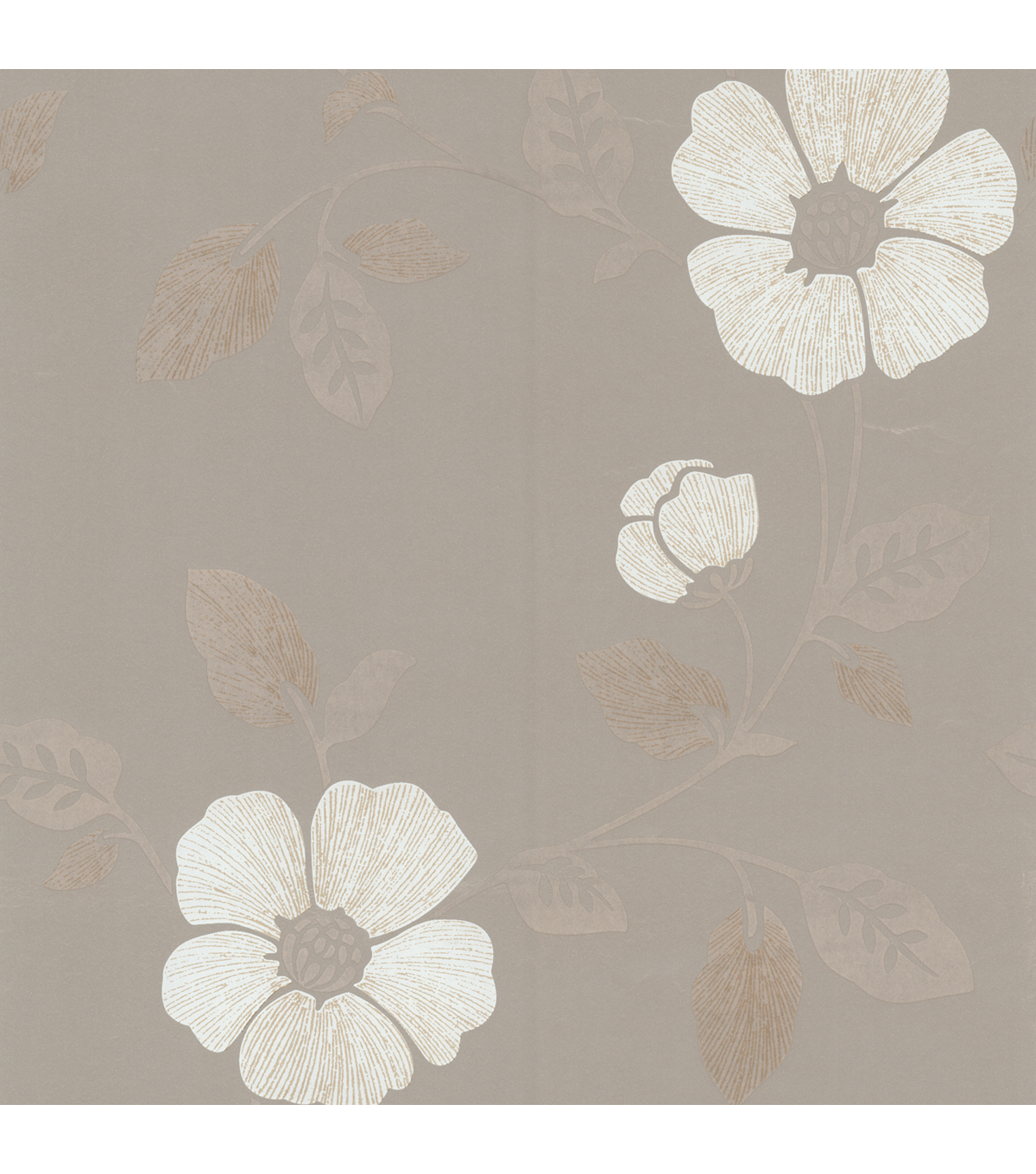 Maddison Pewter French Floral Wallpaper Sample