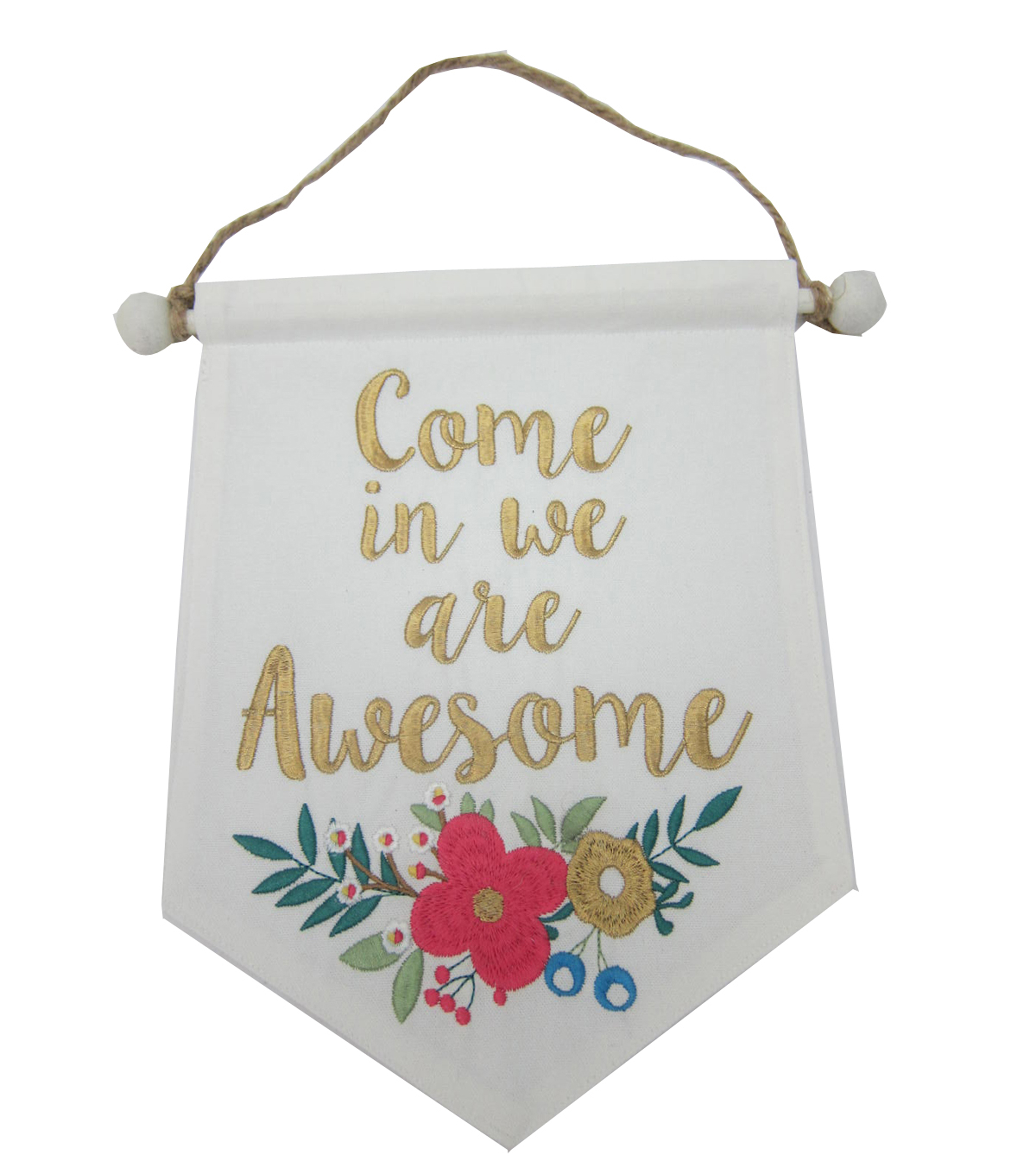 Wild Blooms Mini Banner-Come in We are Awesome