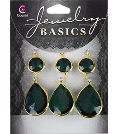 Cousin Jewelry Basics Green Connectors