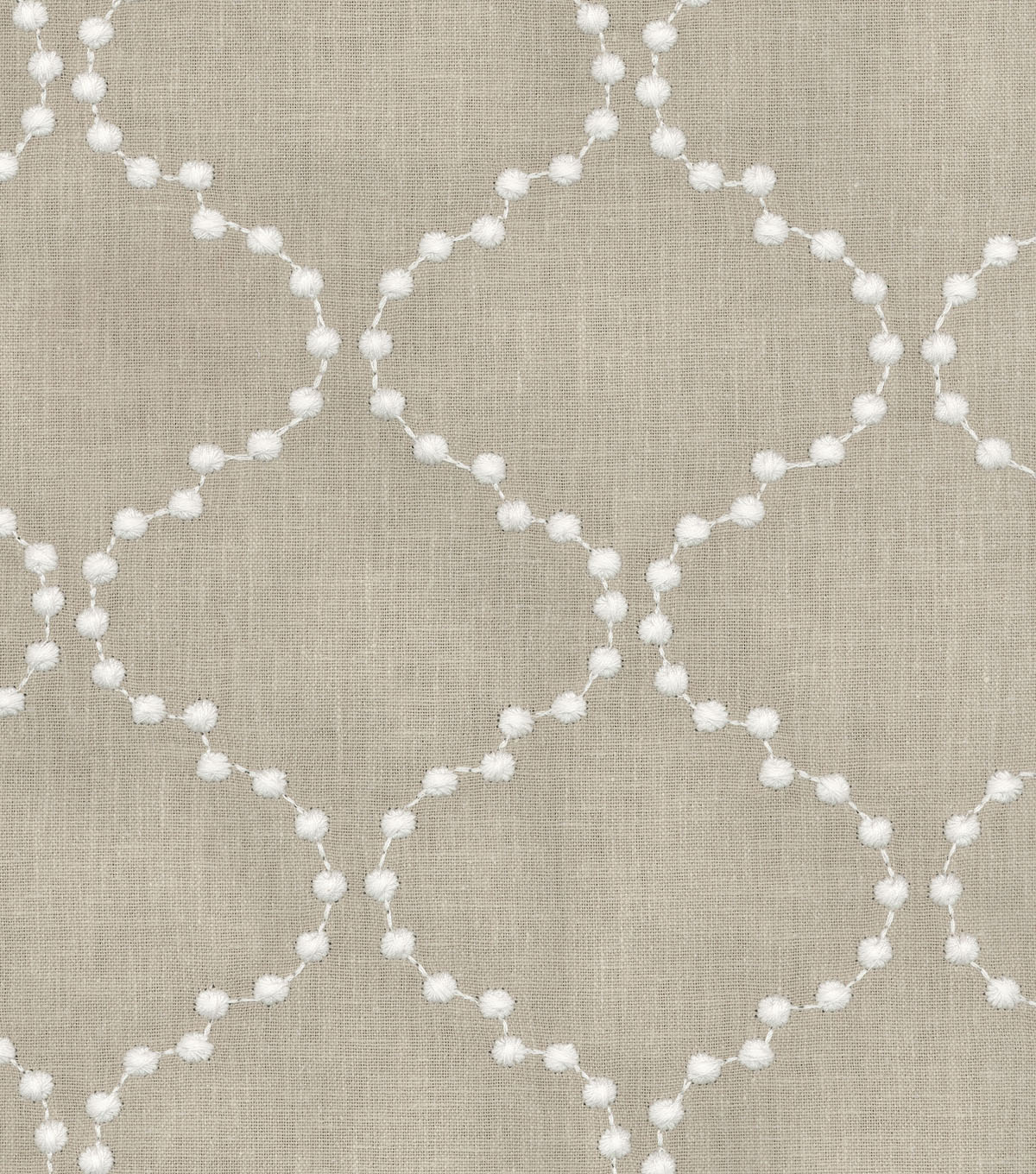 "HGTV Home Upholstery Fabric 55""-Pearl Drop Emb/Flax"