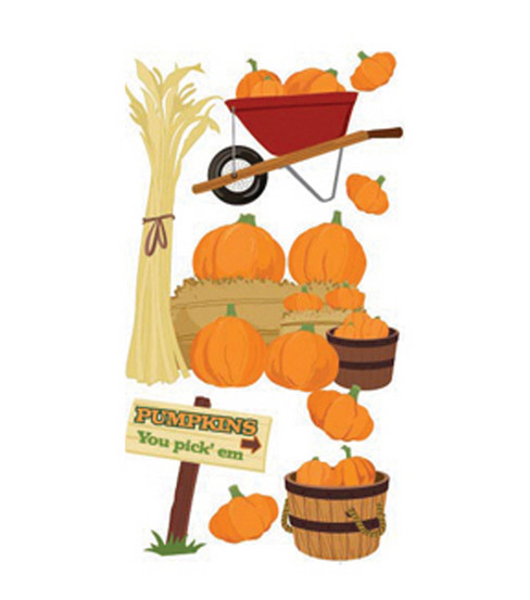 Jolee\u0027s Boutique Le Grande Dimensional Sticker-Pumpkin Pickin\u0027