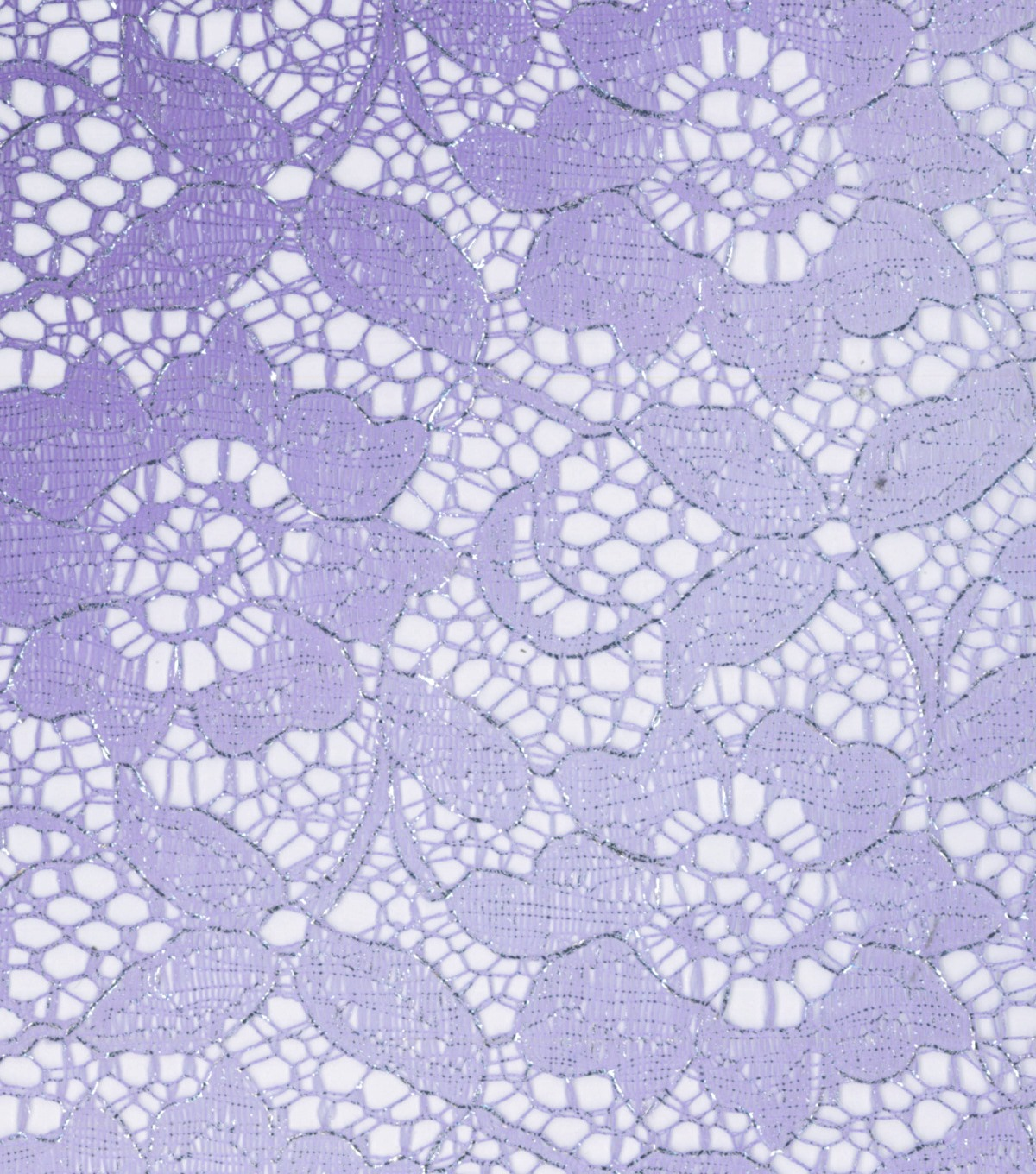 "All That Glitters Lace Fabric 55""-Foiled Ombre Violet"