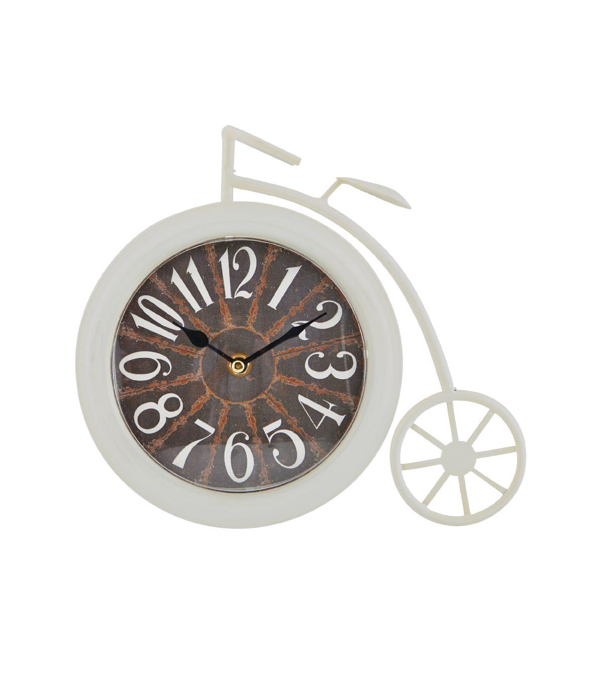 Sydney Bike Table Clock 10\u0027\u0027x9\u0027\u0027-Ivory