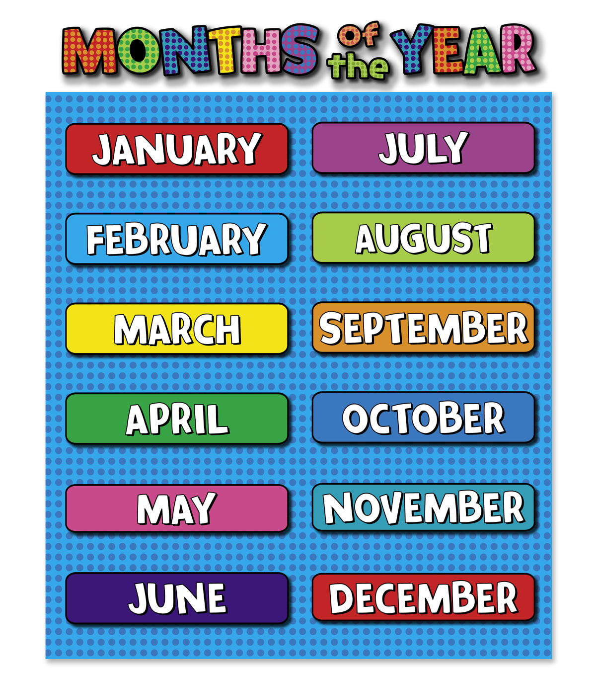 Busy Kids Learning Large Classroom Chart-Months of the Year