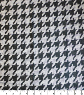 Perfectly Plaid Fabric-Acrylic Black Gray Large Houndst
