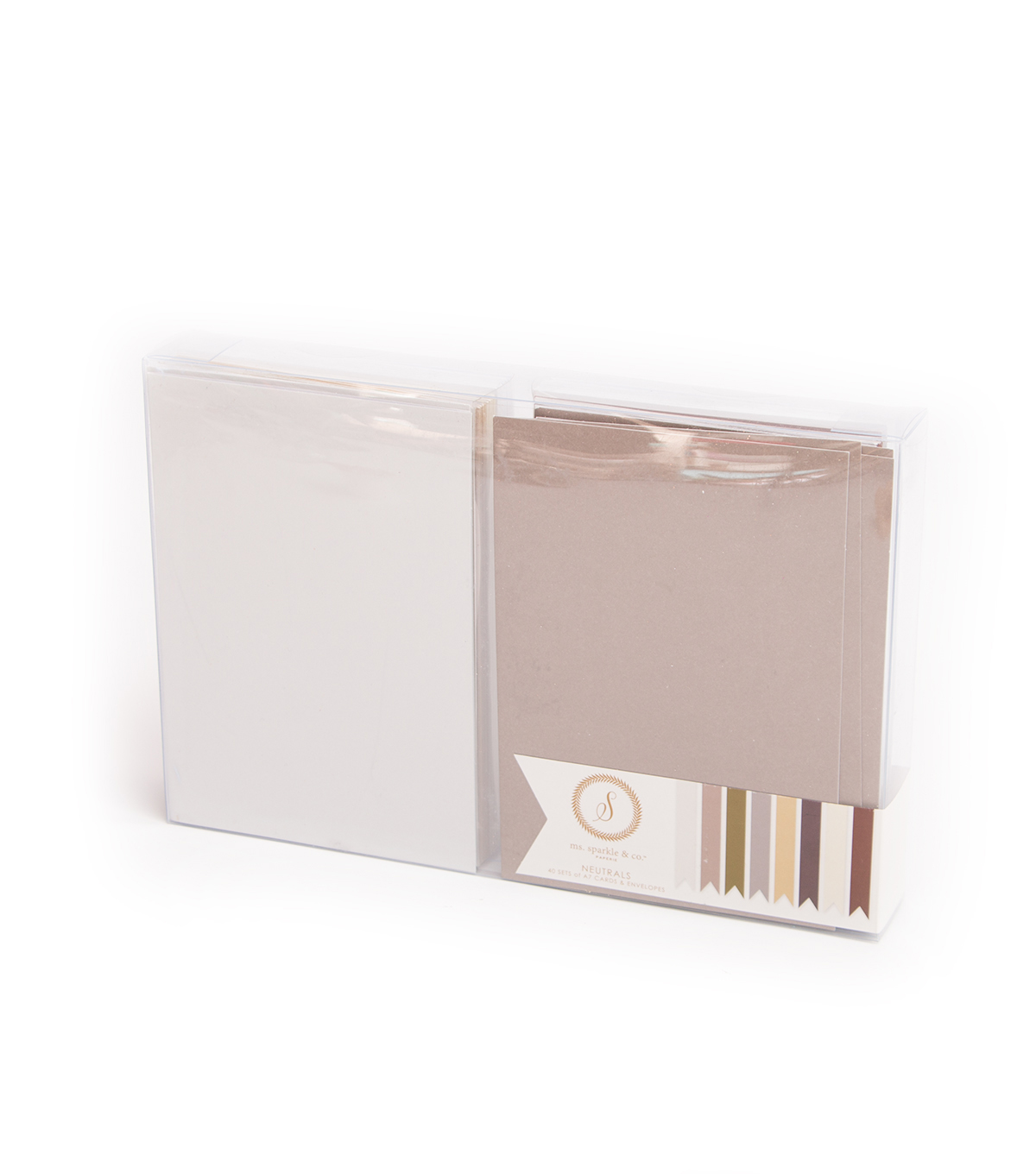 Ms. Sparkle & Co. 40 Pack A7 Cards & Envelopes-Neutrals