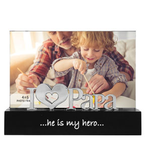 Tabletop Frame 4x6-I Love Papa Desktop