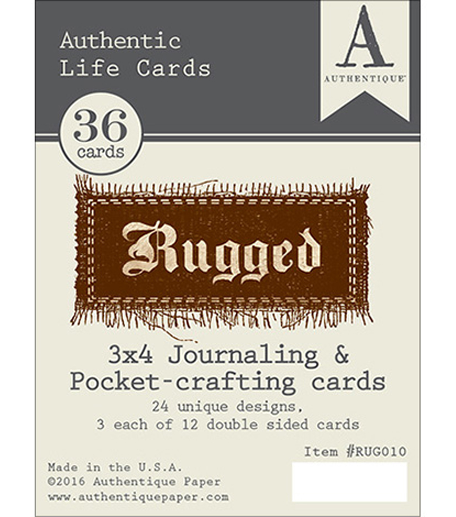 "Rugged Authentic Life Cards-3""X4"" Pocket Crafting & Journaling Cards"