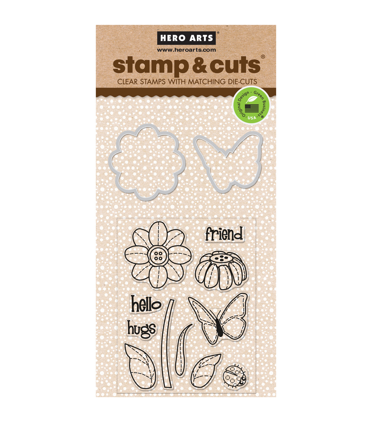 Hero Arts Butterfly & Flower Stamp & Cuts
