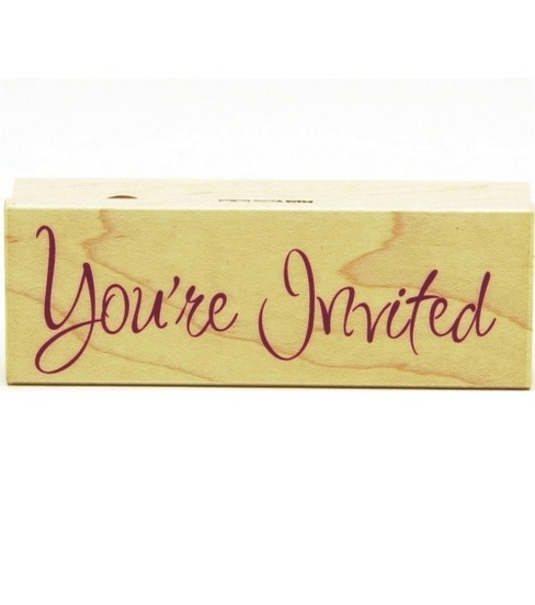 Hero Arts Rubber Stamp-You\u0027re Invited Greeting