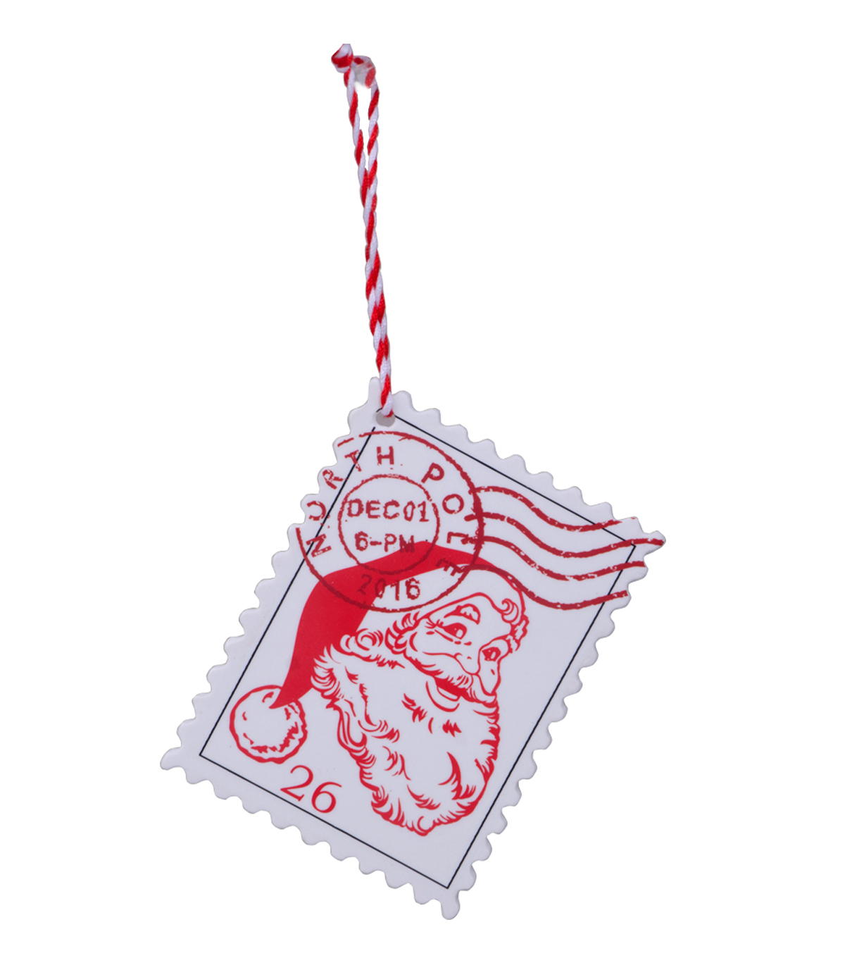 Maker\u0027s Holiday Santa Stamp Ornament