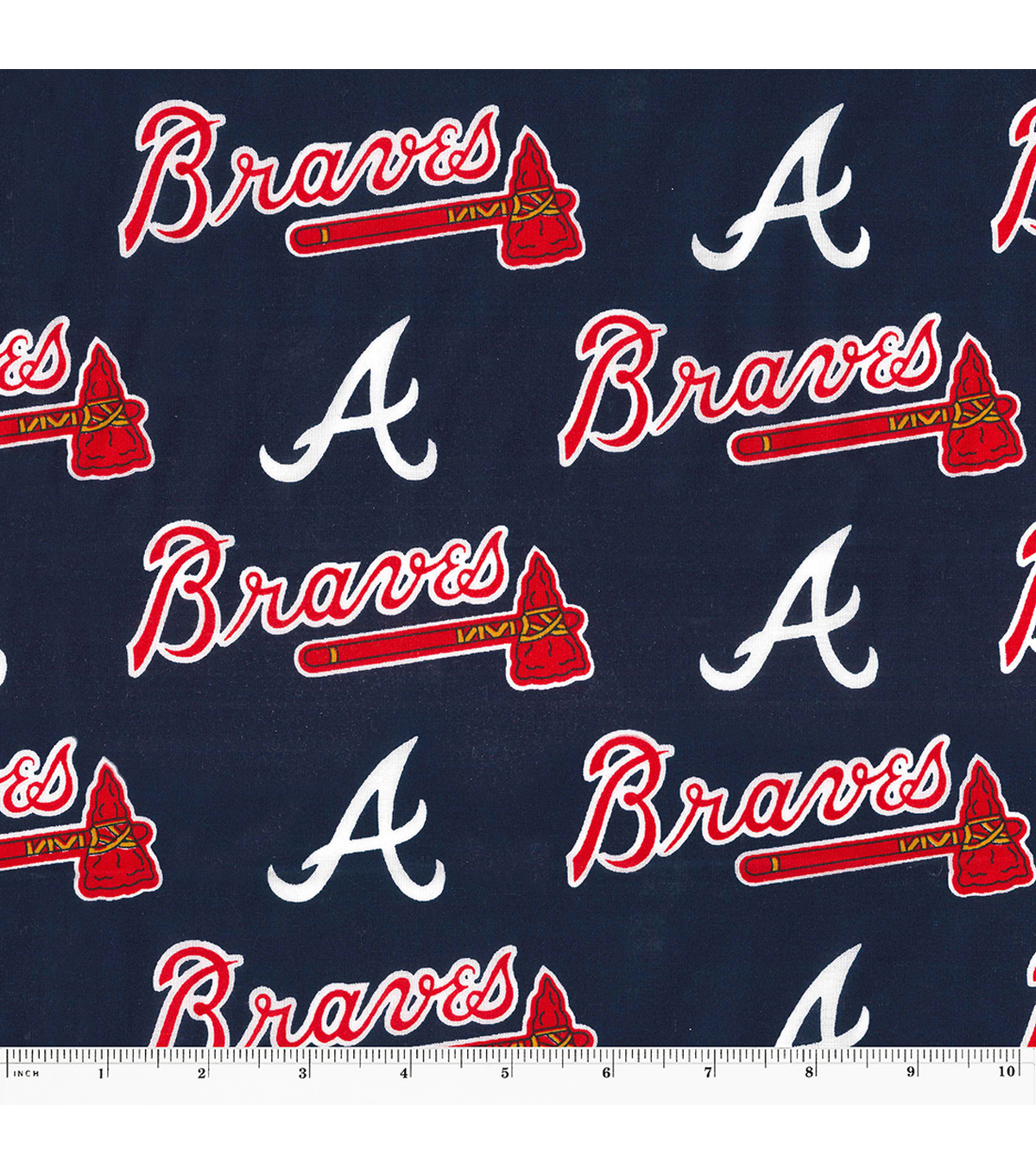 Atlanta Braves Cotton Fabric 58\u0027\u0027-Logo