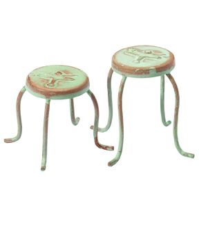 Fairy Garden Dragonfly Set Of 2 Pedestal Tables