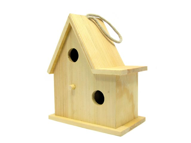 Large Birdhouse with 2 Hole Cut Outs