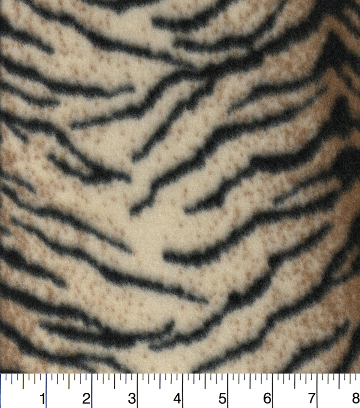 "Blizzard Fleece Fabric 58""-Tiger Lined"