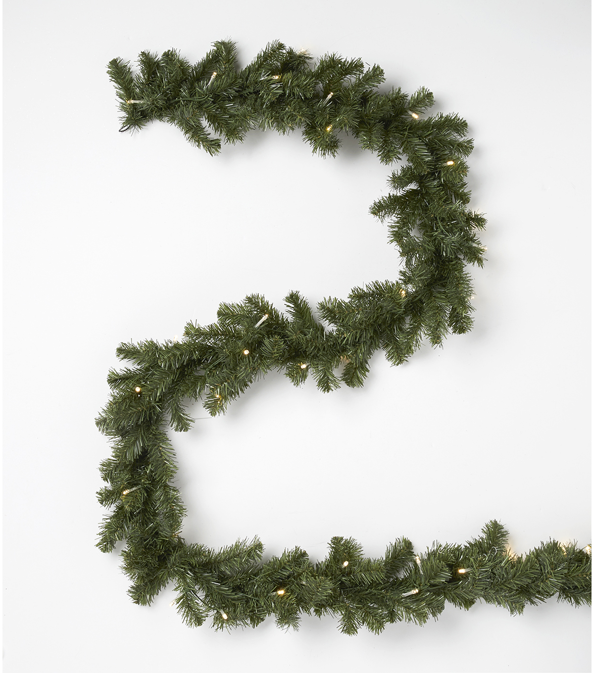 Blooming Holiday Christmas 9\u0027 Prelit PVC Canadian Pine Garland