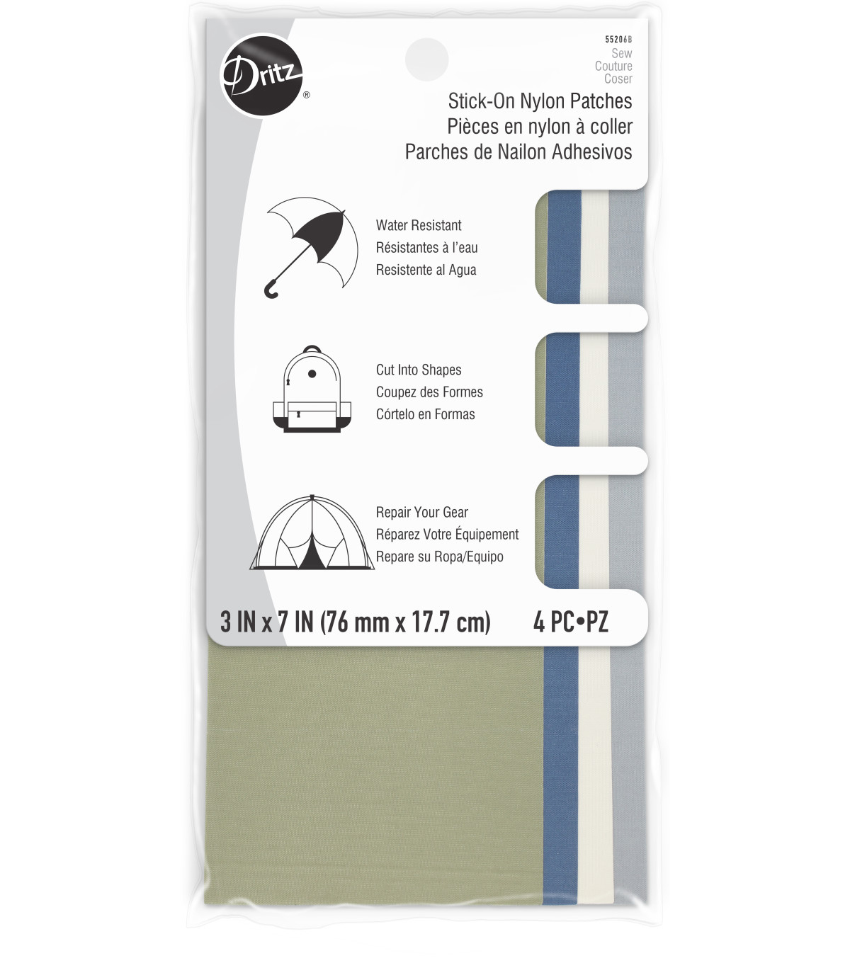 Stick-on Nylon Patches - Camp Colors