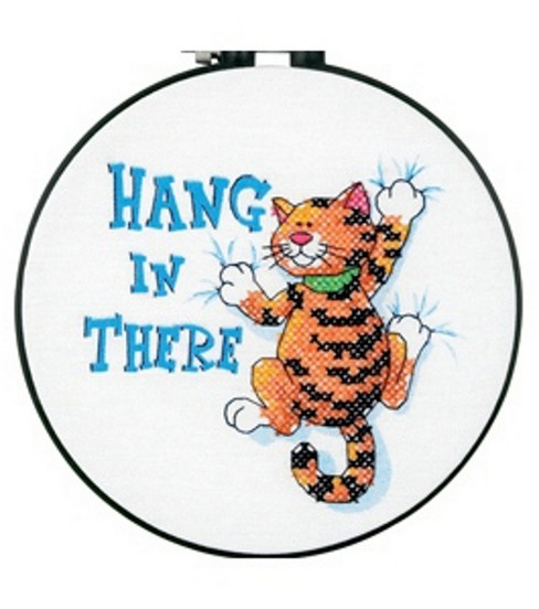 Dimensions Stamped Cross-Stitch Kit Hang In There