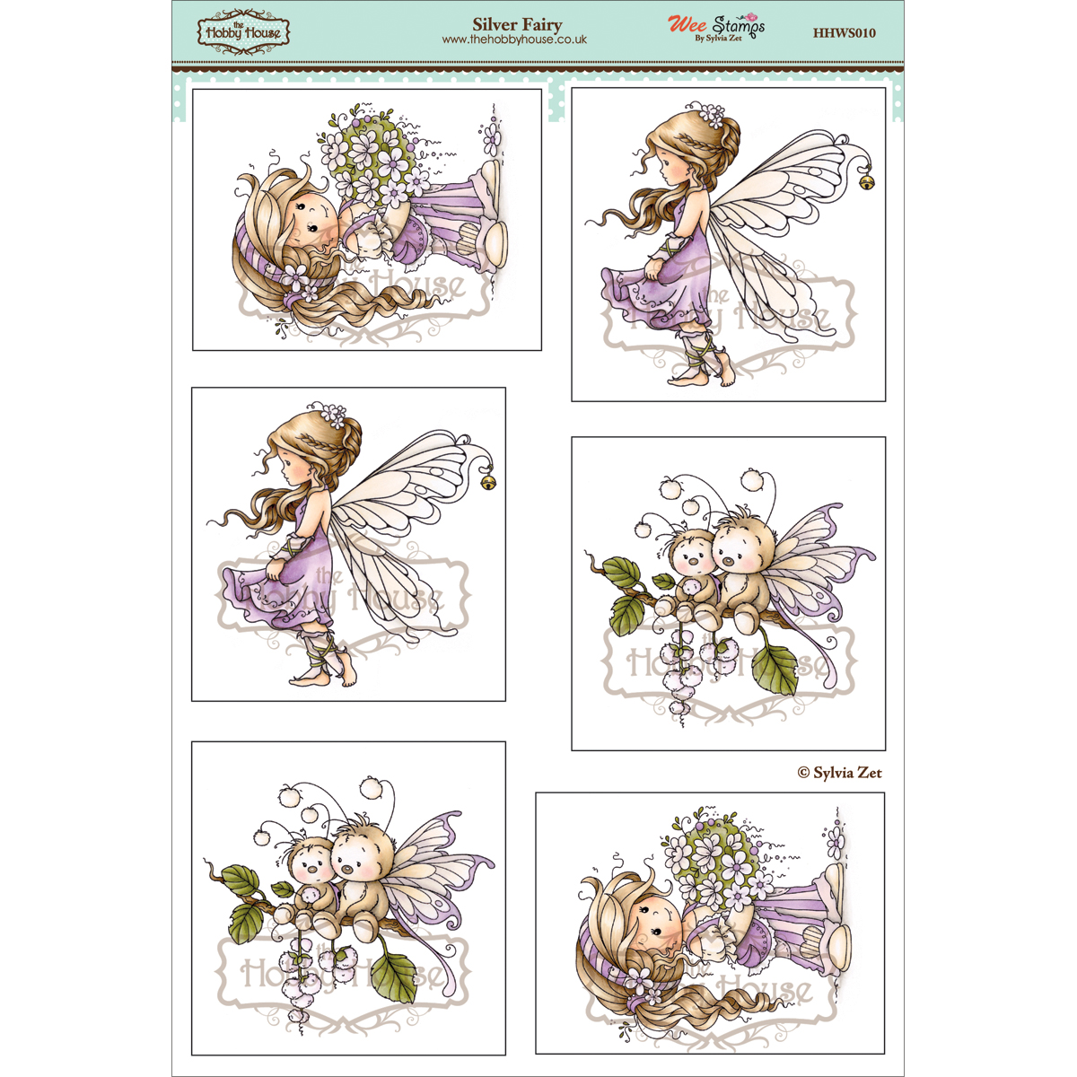The Hobby House Wee Topper Sheet Silver Fairy