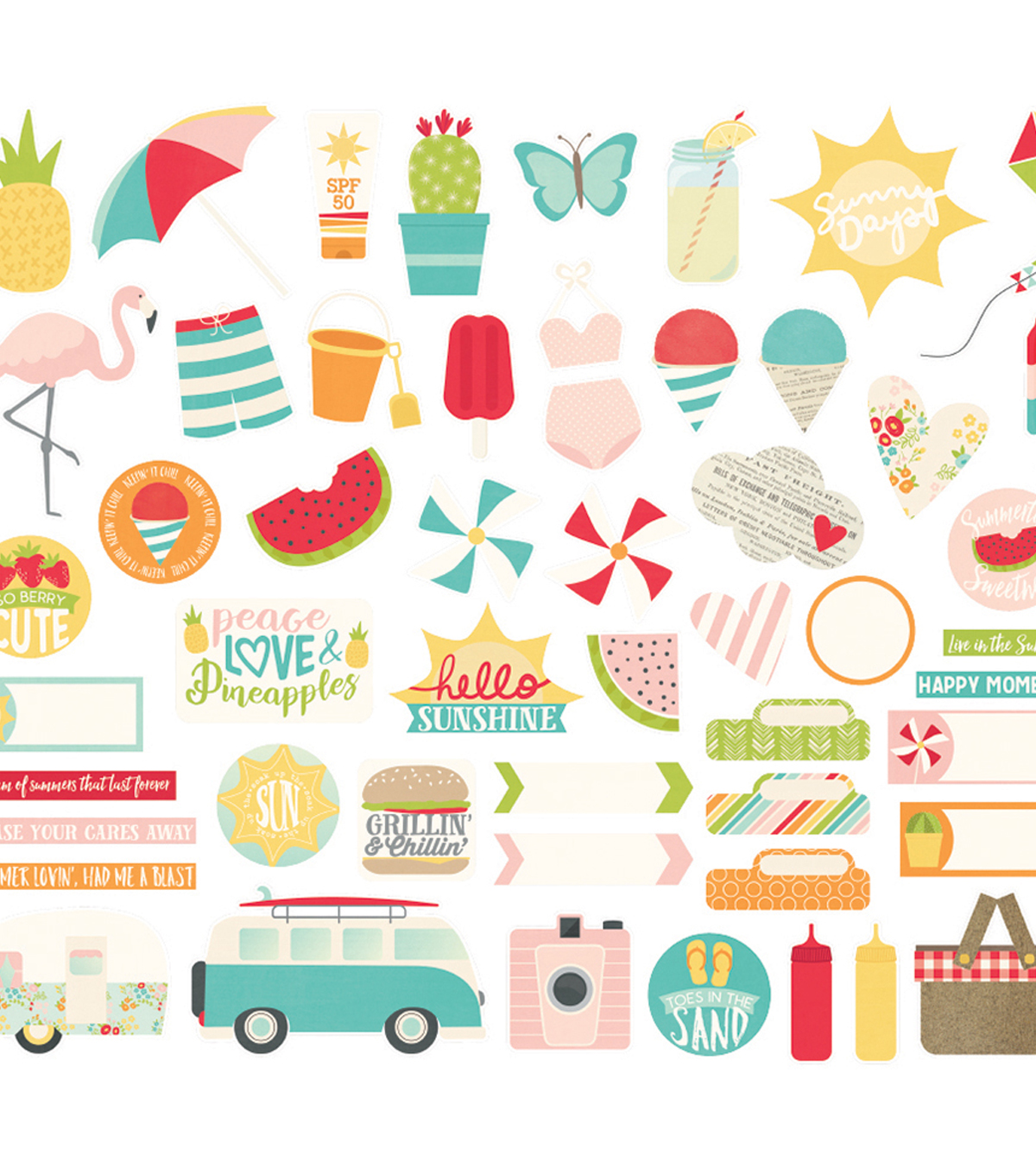 Summer Days Bits & Pieces Die-Cuts
