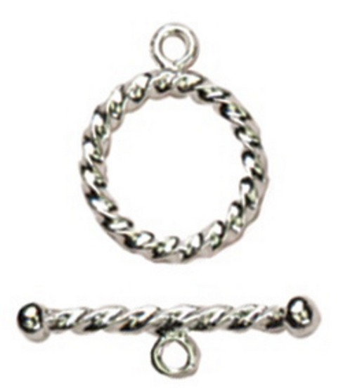 Cousin Silver Elegance 13mm Toggle-Small Rope-1 Set/Sterling Silver