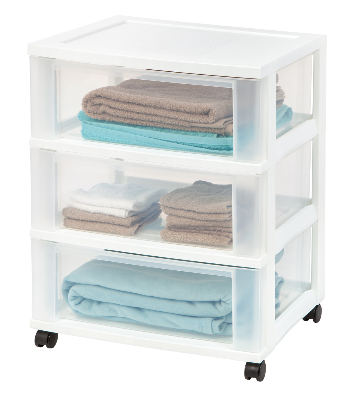 IRIS® 3-Drawer Wide Cart