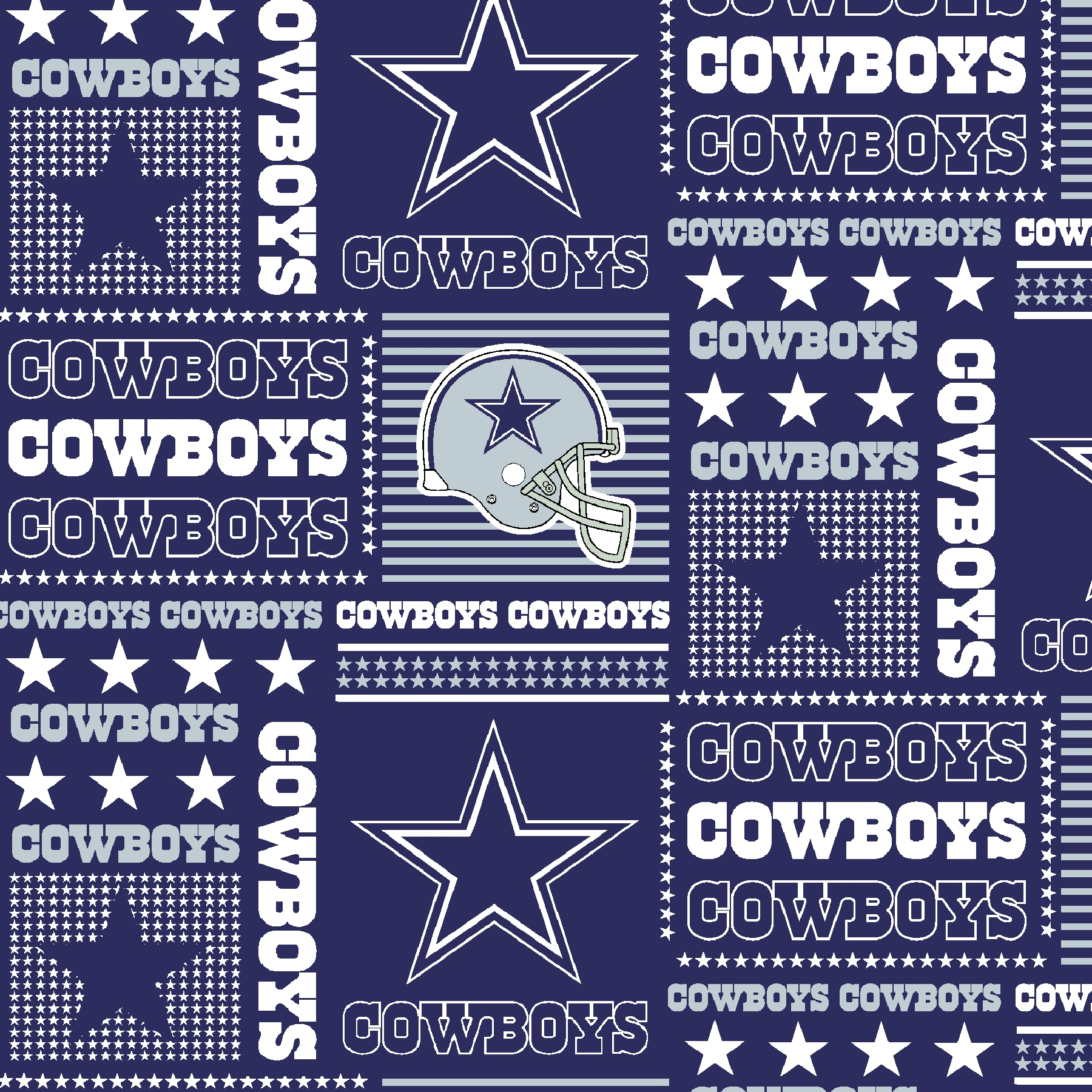 Dallas Cowboys Cotton Fabric 58\u0022-Patch