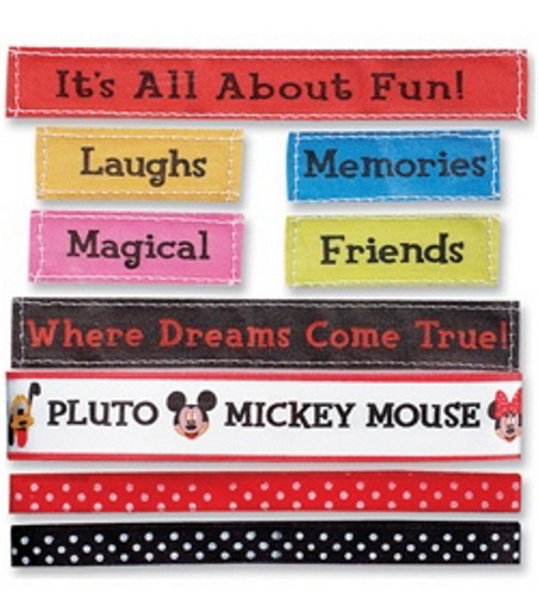 Mickey Ribbons & Adhesive Labels 9-Piece Set