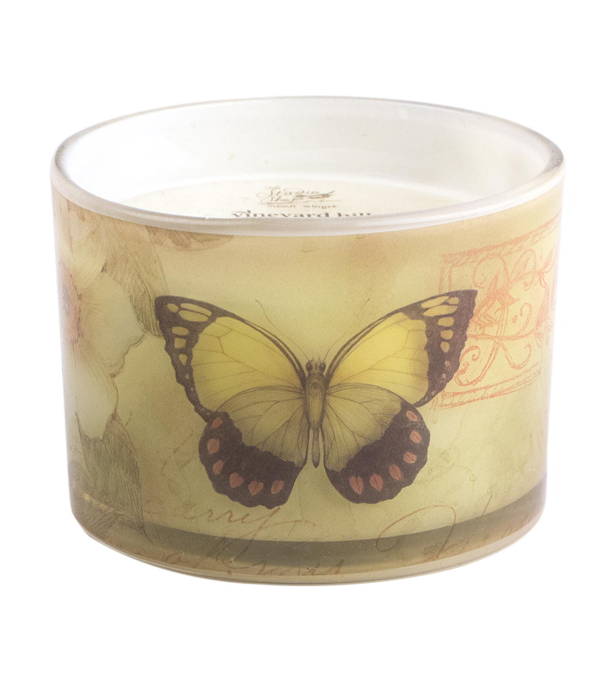 Susan Winget Sanctuary 3 Wick Glass Candle Cucumber Basil 12 ounce
